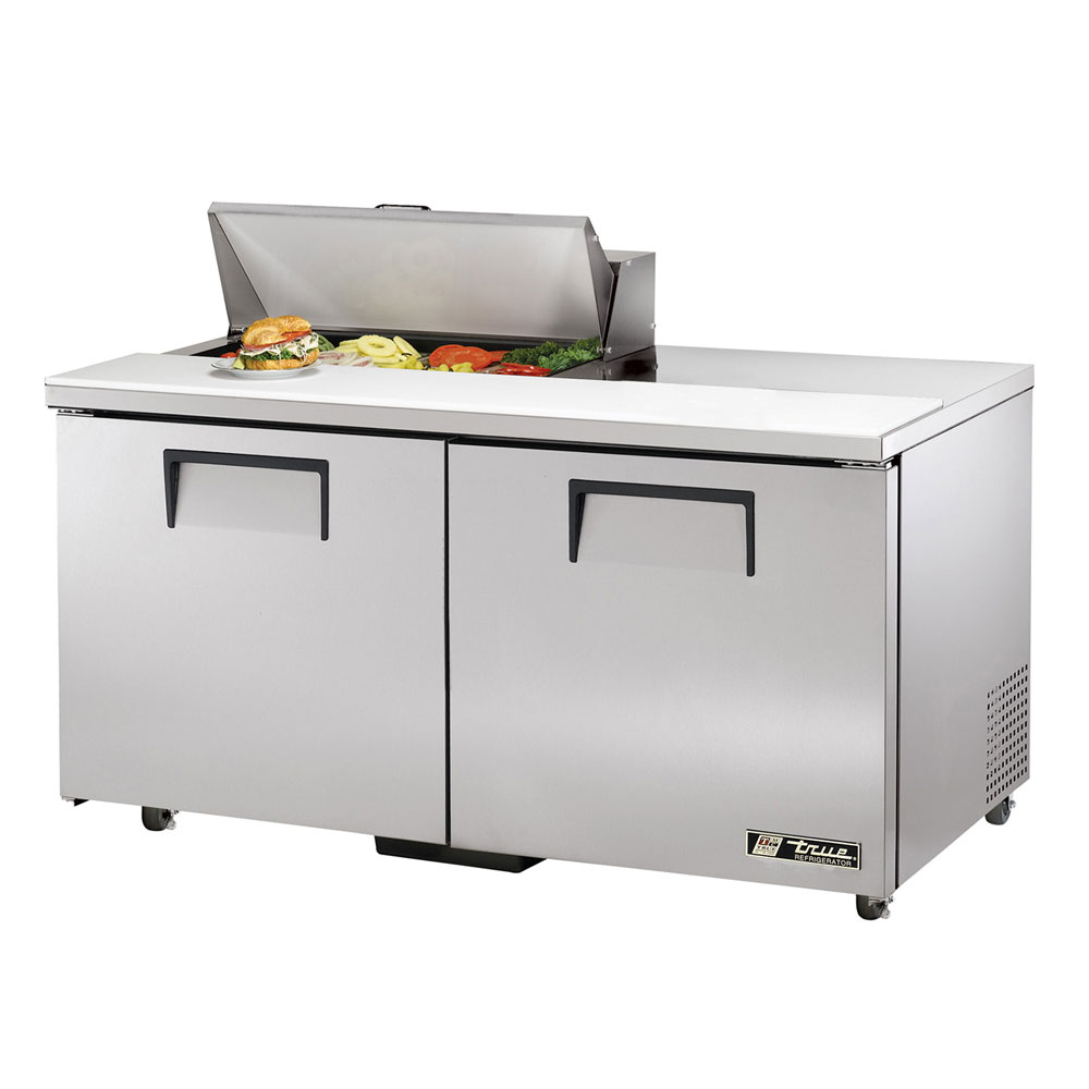 "True TSSU-60-8-ADA 60.38"" Sandwich/Salad Prep Table w/ Refrigerated Base, 115v"