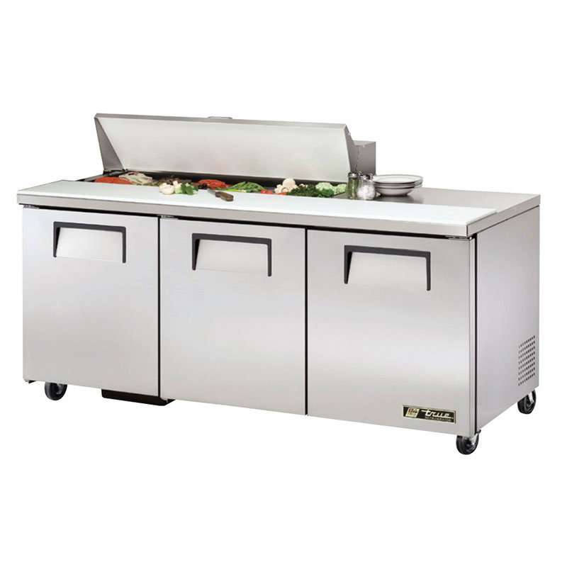 "True TSSU-72-12 72"" Sandwich/Salad Prep Table w/ Refrigerated Base, 115v"