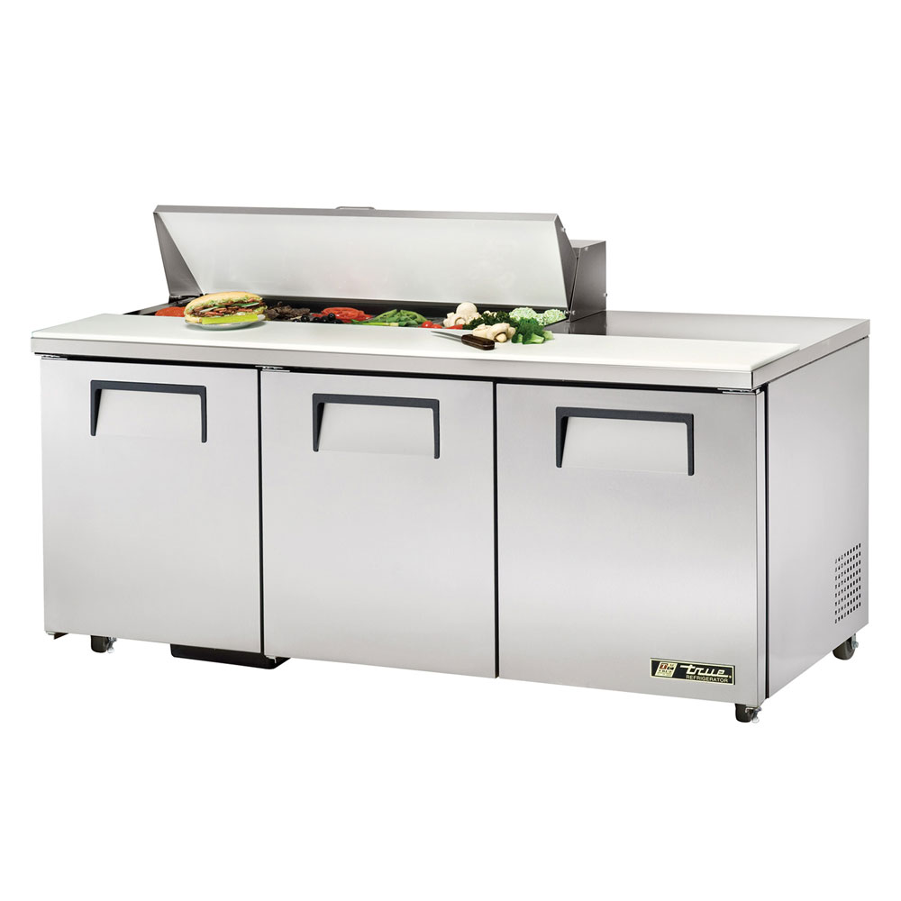 "True TSSU-72-12-ADA 72"" Sandwich/Salad Prep Table w/ Refrigerated Base, 115v"