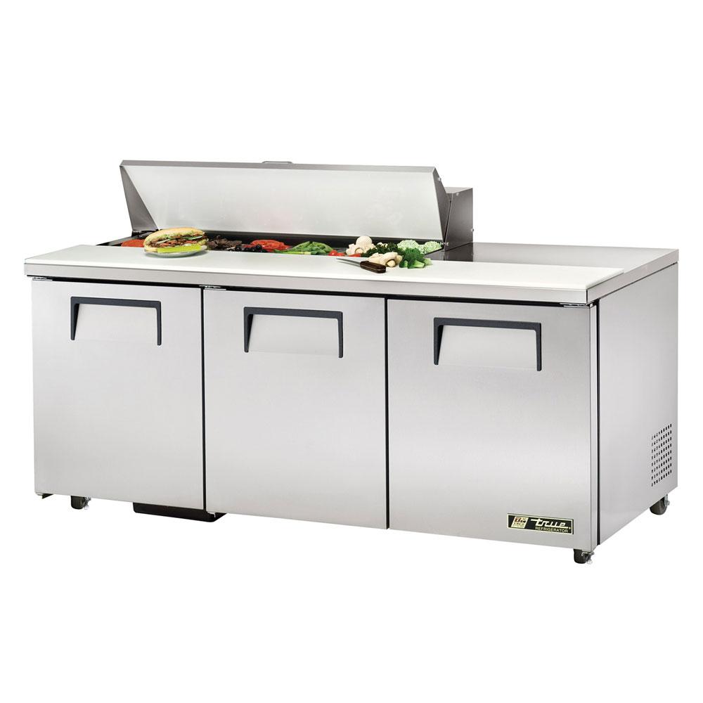 """True TSSU-72-12-ADA 72"""" Sandwich/Salad Prep Table w/ Refrigerated Base, 115v"""
