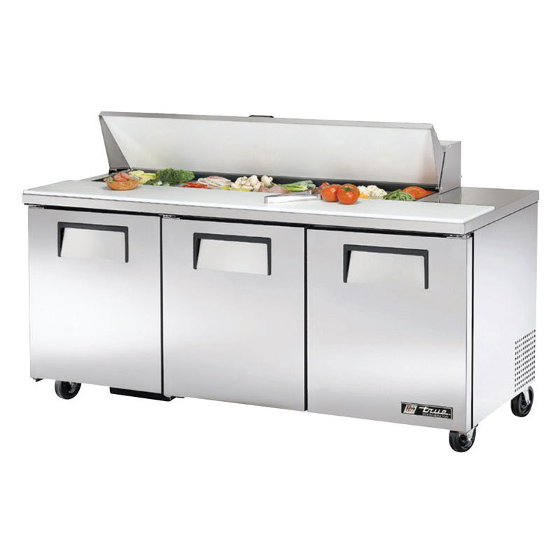"True TSSU-72-16 72"" Sandwich/Salad Prep Table w/ Refrigerated Base, 115v"