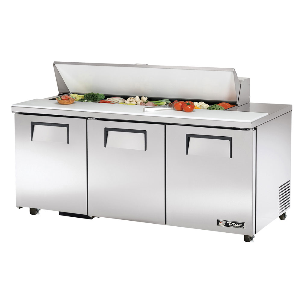 "True TSSU-72-16-ADA 72"" Sandwich/Salad Prep Table w/ Refrigerated Base, 115v"