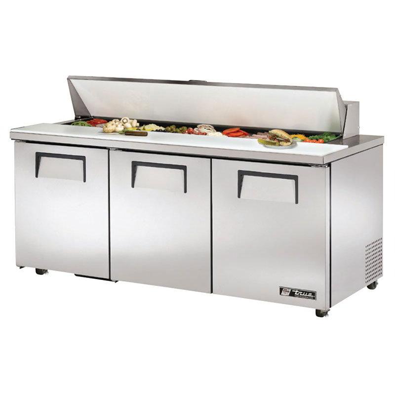 """True TSSU-72-18-ADA 72.38"""" Sandwich/Salad Prep Table w/ Refrigerated Base, 115v"""