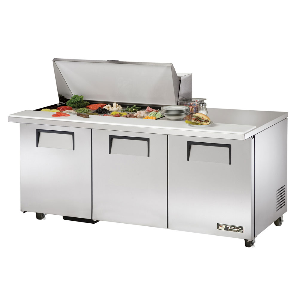 "True TSSU-72-18M-BADA 72"" Sandwich/Salad Prep Table w/ Refrigerated Base, 115v"