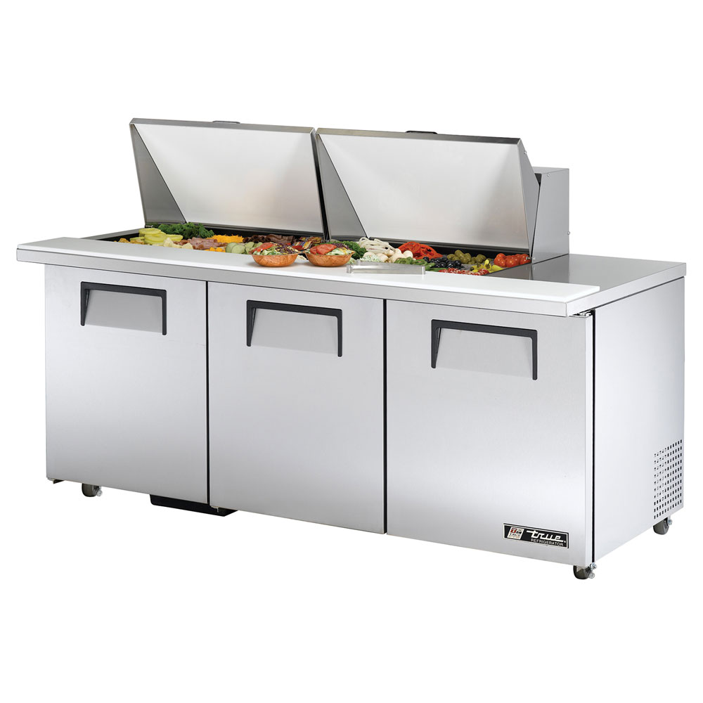 "True TSSU-7224MBSTADA 72"" Sandwich/Salad Prep Table w/ Refrigerated Base, 115v"