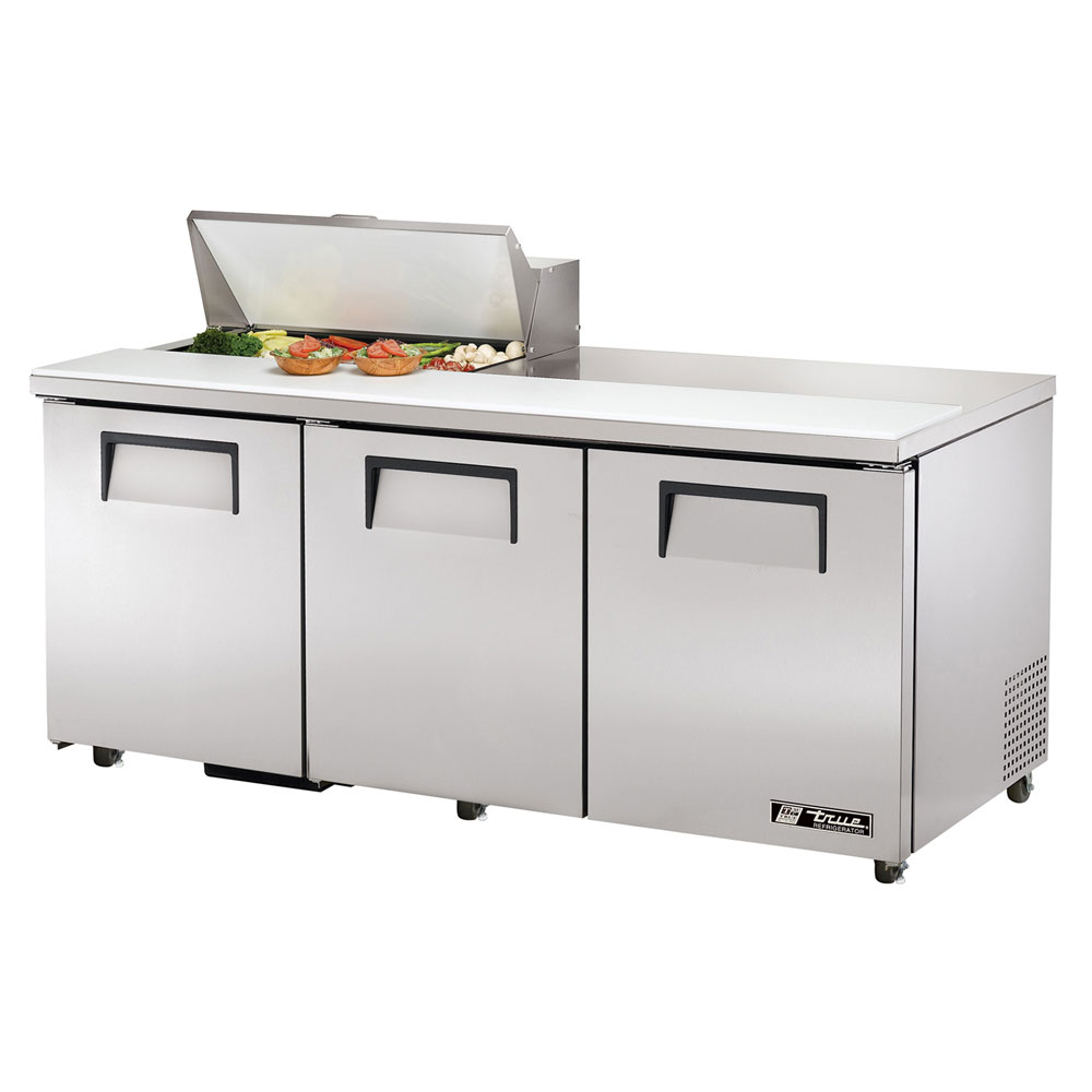"True TSSU-72-8 72"" Sandwich/Salad Prep Table w/ Refrigerated Base, 115v"