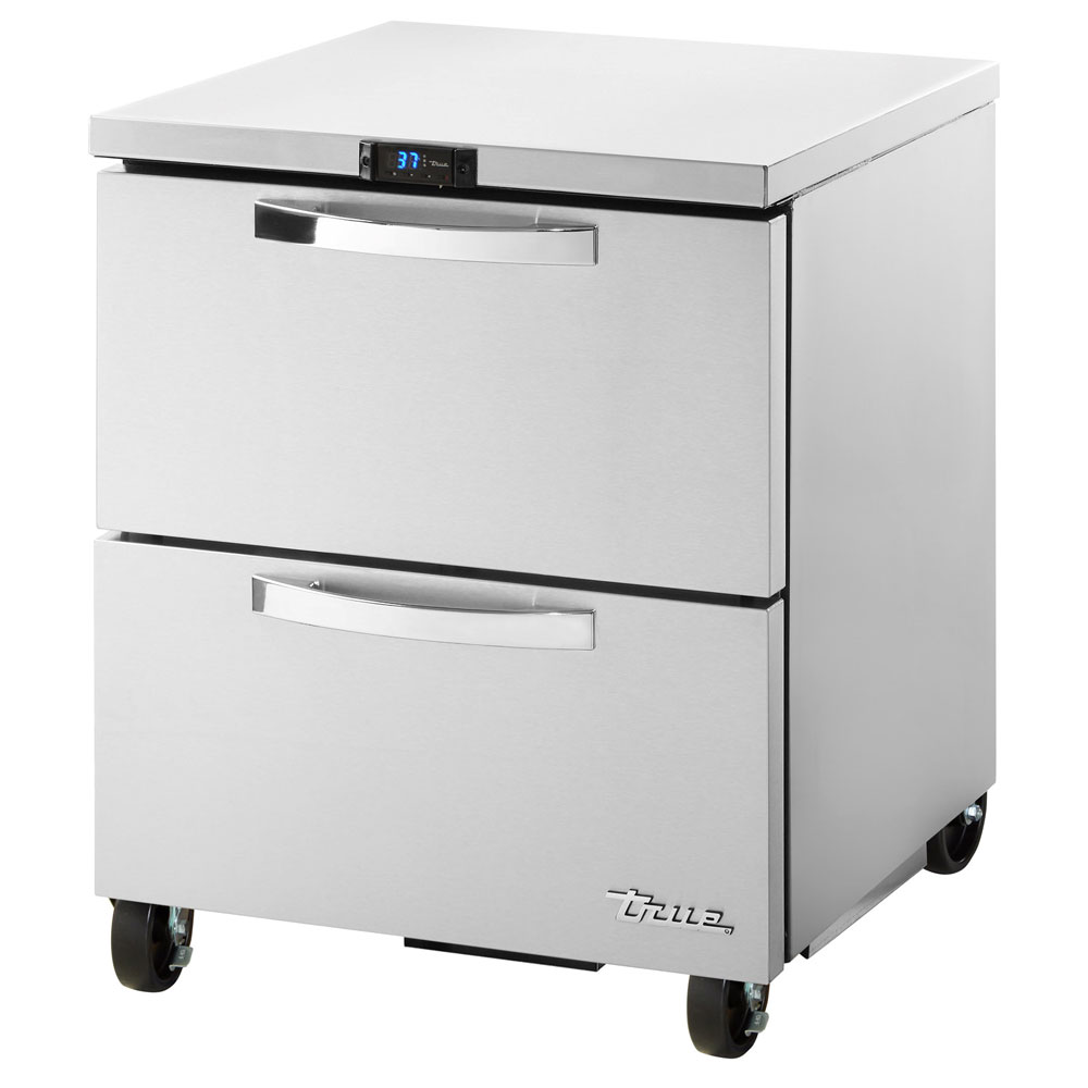 True TUC-27D-2-HC~SPEC1 6.5-cu ft Undercounter Refrigerator w/ (1) Section & (2) Drawers, 115v