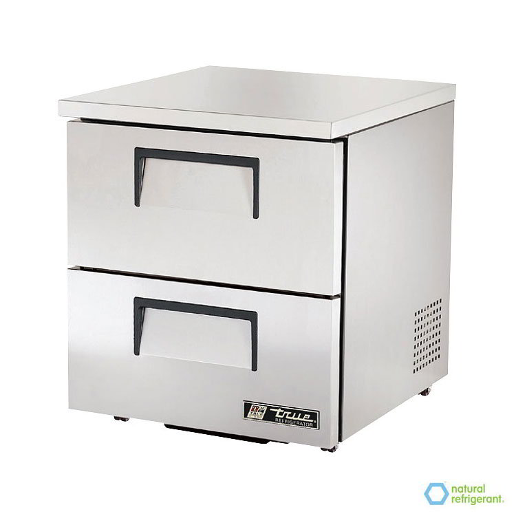 True TUC-27D-2-LP 6.5-cu ft Undercounter Refrigerator w/ (1) Section & (2) Drawers, 115v