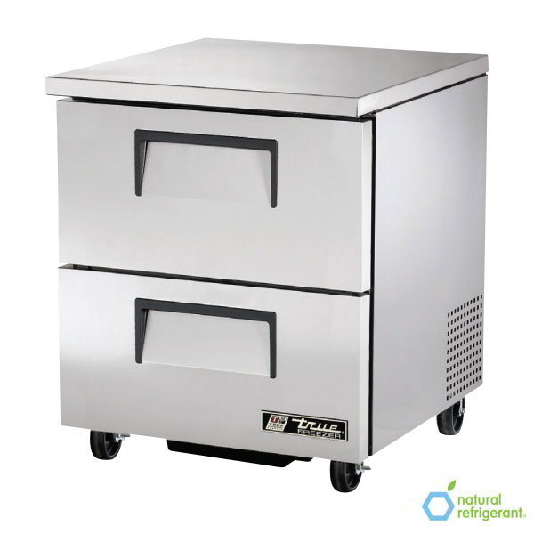 True TUC-27F-D-2-HC 6.5-cu ft Undercounter Freezer w/ (1) Section & (2) Drawers, 115v