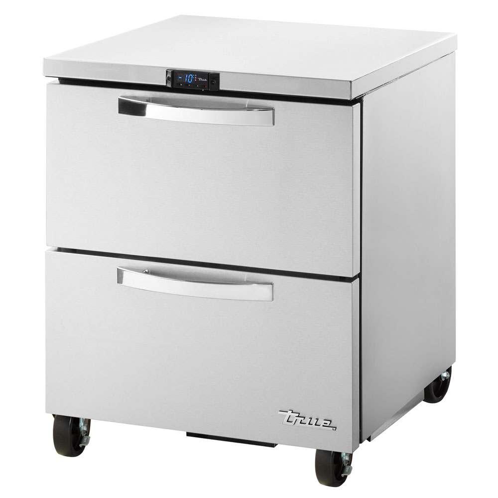True TUC-27F-D-2-HC~SPEC1 6.5-cu ft Undercounter Freezer w/ (1) Section & (2) Drawers, 115v