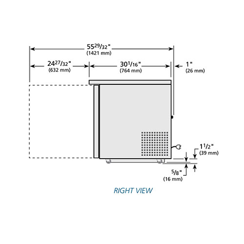 True TUC-27F-LP-HC 6.5-cu ft Undercounter Freezer w/ (1) Section & (1) Door, 115v