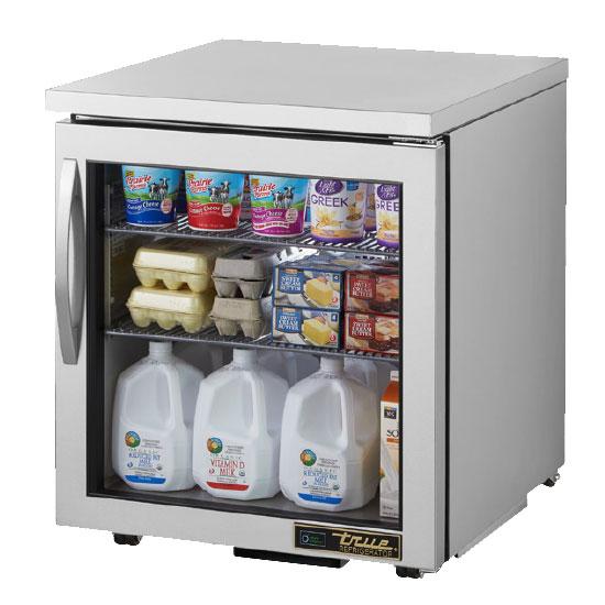True TUC-27G-LP-HC~FGD01 Undercounter Refrigerator w/ (1) Section & (1) Door, 115v