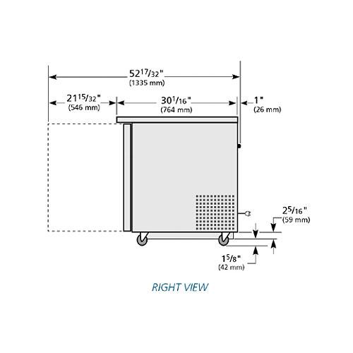 True TUC-48-ADA-HC 12-cu ft Undercounter Refrigerator w/ (2) Sections & (2) Doors, 115v