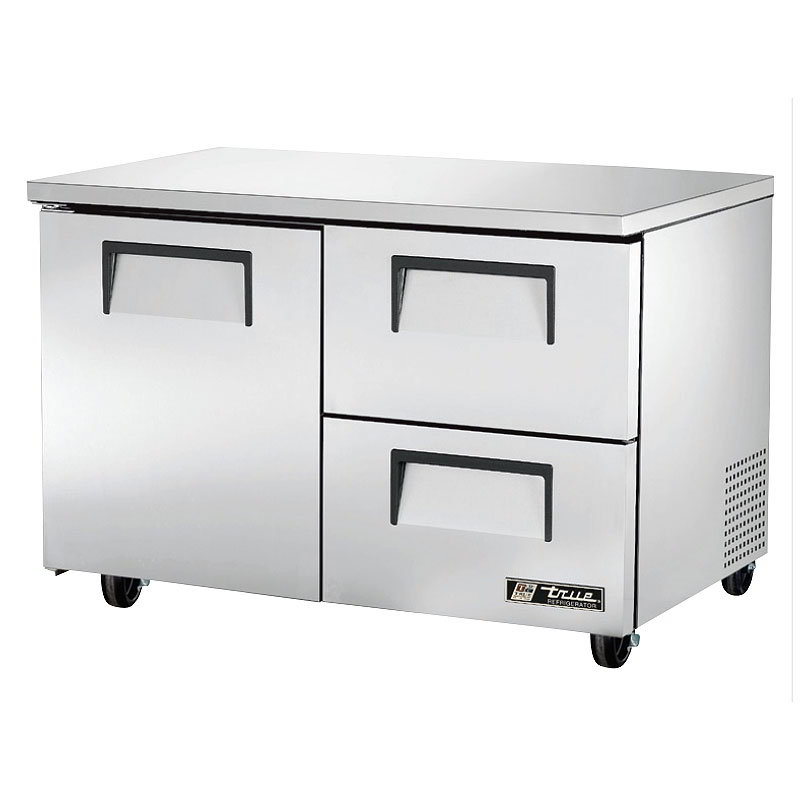 True TUC-48D-2 12-cu ft Undercounter Refrigerator w/ (2) Sections, (2) Drawers & (1) Door, 115v