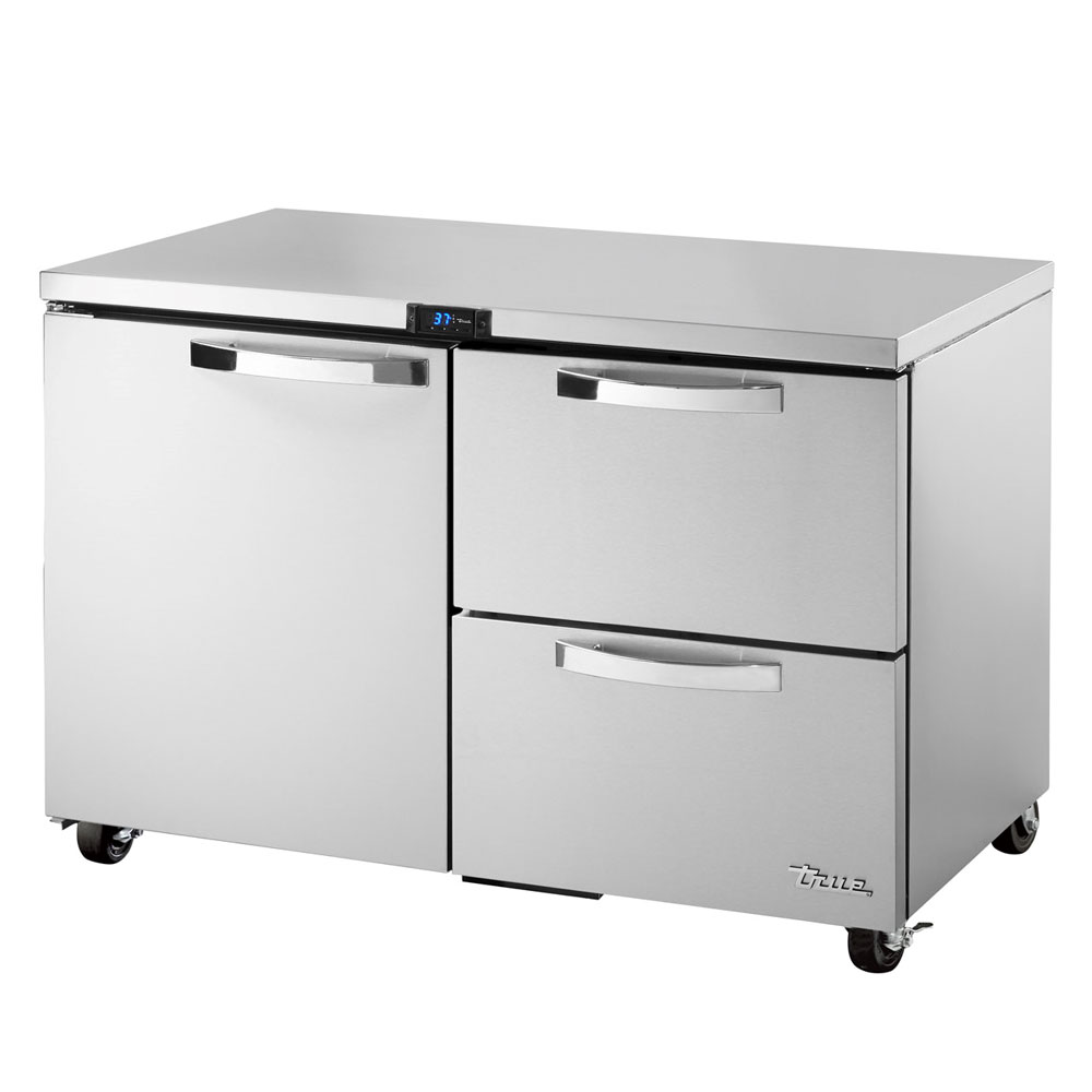 True TUC-48D-2-ADA-HC~SPEC1 12-cu ft Undercounter Refrigerator w/ (2) Sections, (1) Door & (2) Drawers, 115v