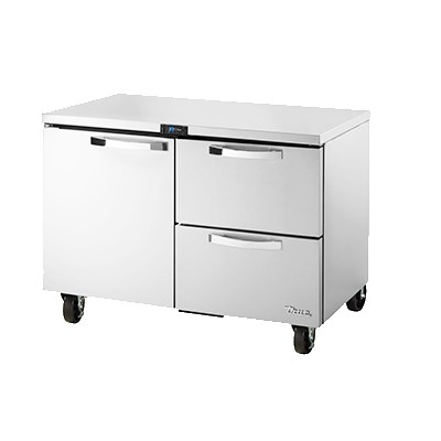 True TUC-48D-2-HC~SPEC1 12-cu ft Undercounter Refrigerator w/ (2) Sections, (1) Door & (2) Drawers, 115v