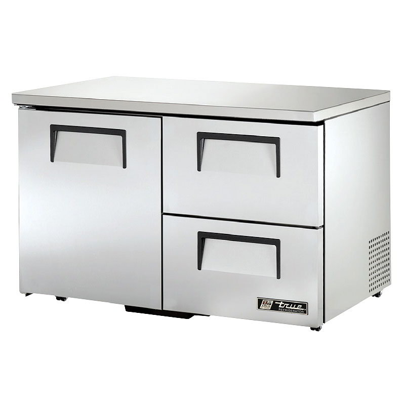 True TUC-48D-2-LP-HC 12-cu ft Undercounter Refrigerator w/ (2) Sections, (2) Drawers & (1) Door, 115v