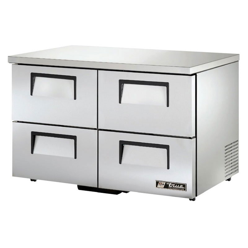 True TUC-48D-4-LP 12-cu ft Undercounter Refrigerator w/ (2) Sections & (4) Drawers, 115v