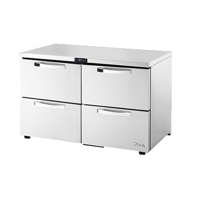 True TUC-48D-4-LP-HC~SPEC1 12-cu ft Undercounter Refrigerator w/ (2) Sections & (4) Drawers, 115v