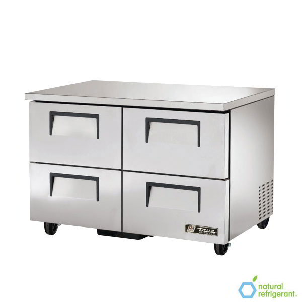 True TUC-48F-D-4 115V 12-cu ft Undercounter Freezer w/ (4) Sections & (4) Drawers, 115v