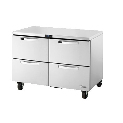 True TUC-48F-D-4-HC~SPEC1 12-cu ft Undercounter Freezer w/ (2) Sections & (4) Drawers, 115v