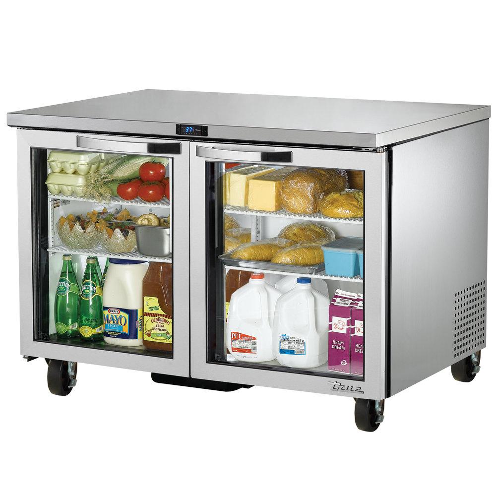 True TUC-48G-HC-LD~SPEC1 12-cu ft Undercounter Refrigerator w/ (2) Sections & (2) Doors, 115v