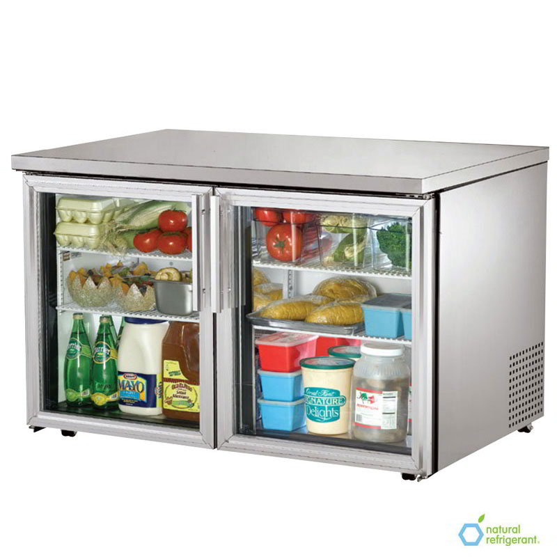 True TUC-48G-LP-HC~FGD01 12-cu ft Undercounter Refrigerator w/ (2) Sections & (2) Doors, 115v