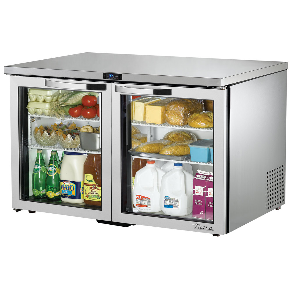 True TUC-48G-LP-HC-LD~SPEC1 12-cu ft Undercounter Refrigerator w/ (2) Sections & (2) Doors, 115v