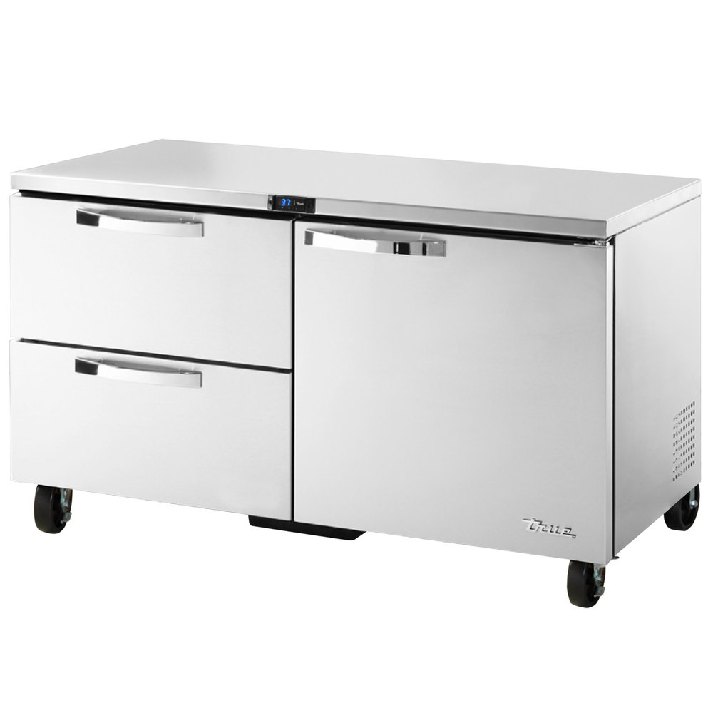 True TUC-60-32D-2~SPEC1 15.9-cu ft Undercounter Refrigerator w/ (2) Sections, (1) Door & (2) Drawers, 115v