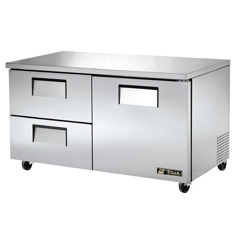 True TUC-60D-2-HC 15.5-cu ft Undercounter Refrigerator w/ (2) Sections, (2) Drawers & (1) Door, 115v