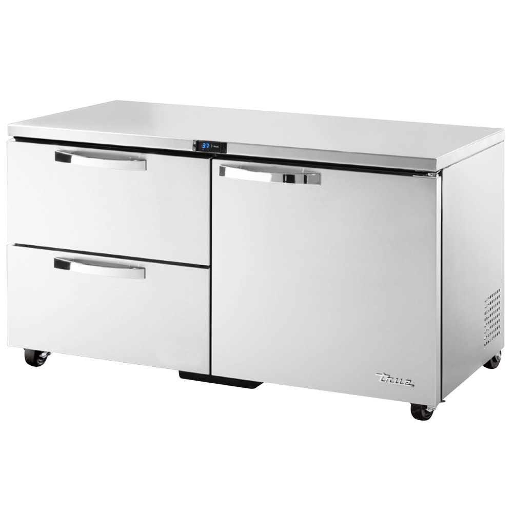 True TUC-60D-2-ADA~SPEC1 15.5-cu ft Undercounter Refrigerator w/ (2) Sections, (1) Door & (2) Drawers, 115v
