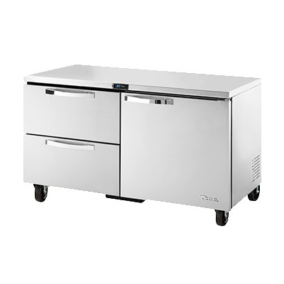 True TUC-60D-2-HC~SPEC1 15.5-cu ft Undercounter Refrigerator w/ (2) Sections, (1) Door & (2) Drawers, 115v