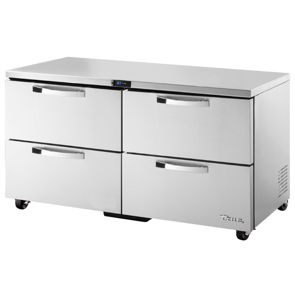 True TUC-60D-4-ADA~SPEC1 15.5-cu ft Undercounter Refrigerator w/ (2) Sections & (4) Drawers, 115v