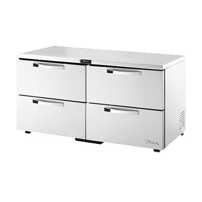 True TUC-60D-4-LP~SPEC1 15.5-cu ft Undercounter Refrigerator w/ (2) Sections & (4) Drawers, 115v
