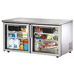 True TUC-60G-LP 15.5-cu ft Undercounter Refrigerator w/ (2) Sections & (2) Doors, 115v