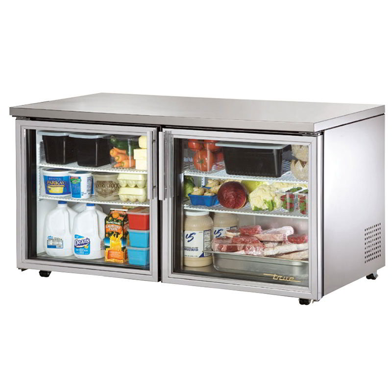 True TUC-60G-LP-HC~FGD01 15.5-cu ft Undercounter Refrigerator w/ (2) Sections & (2) Doors, 115v
