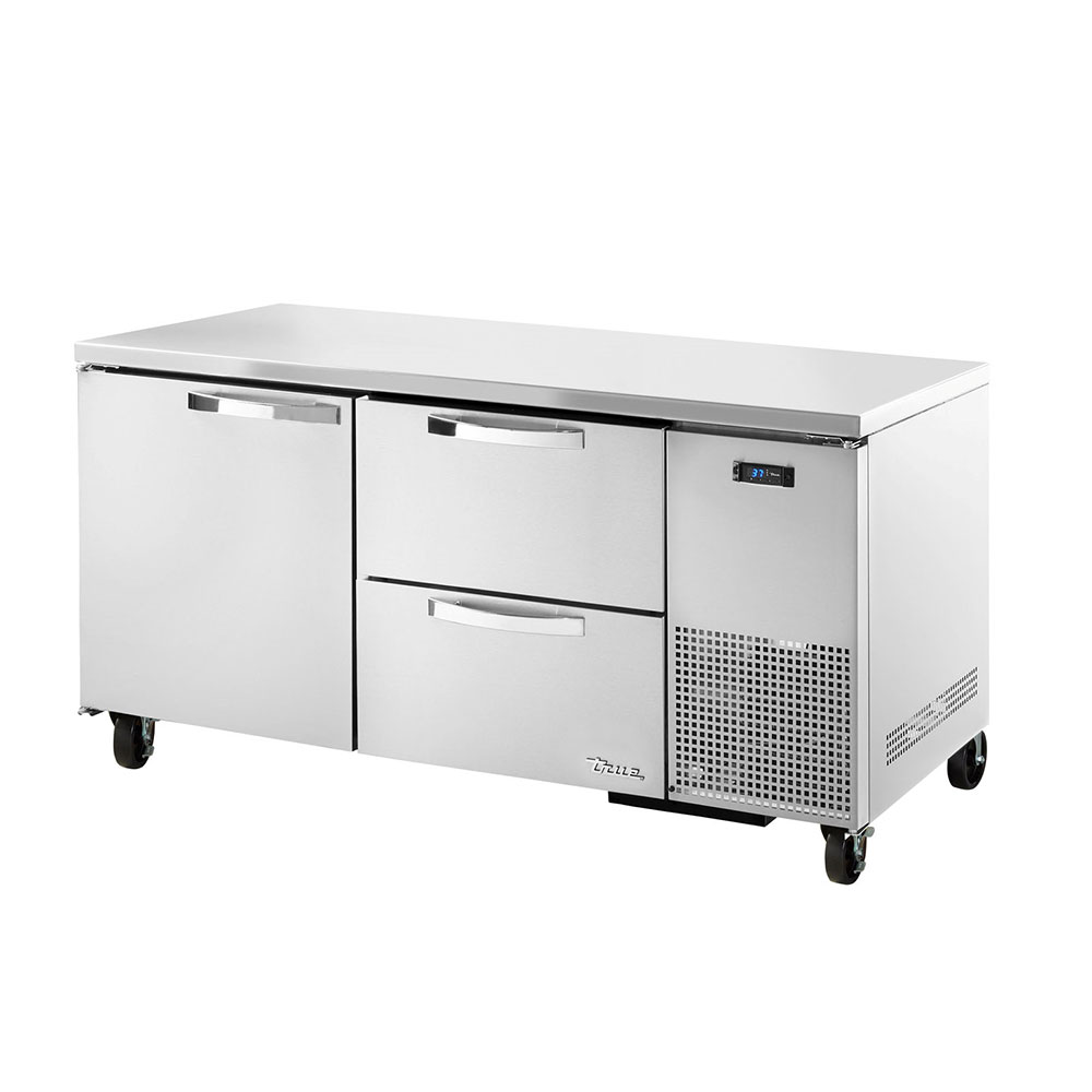 True TUC-67D-2~SPEC1 20.6-cu ft Undercounter Refrigerator w/ (2) Sections, (1) Door & (2) Drawers, 115v