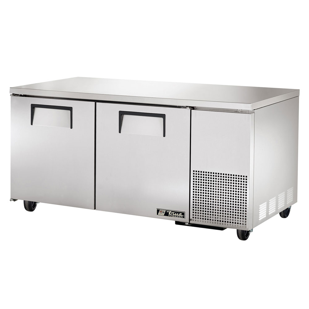 True TUC-67F-HD 20.6-cu ft Undercounter Freezer w/ (2) Sections & (2) Doors, 115v