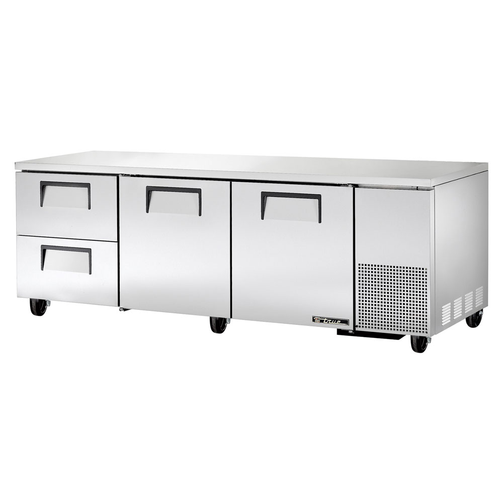 True TUC-93D-2 30.9-cu ft Undercounter Refrigerator w/ (3) Sections, (2) Doors & (2) Drawers, 115v