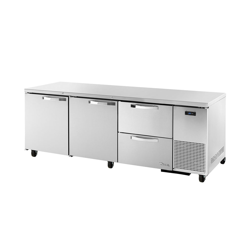 True TUC-93D-2~SPEC1 30.9-cu ft Undercounter Refrigerator w/ (3) Sections, (2) Doors & (2) Drawers, 115v