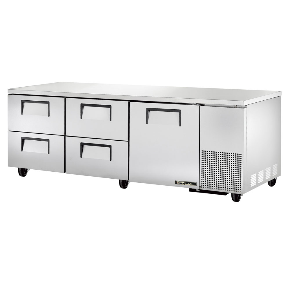 True TUC-93D-4 30.9-cu ft Undercounter Refrigerator w/ (3) Sections, (1) Door & (4) Drawers, 115v