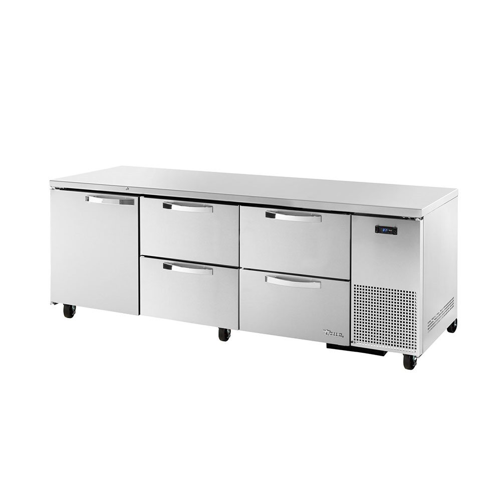 True TUC-93D-4~SPEC1 30.9-cu ft Undercounter Refrigerator w/ (3) Sections, (1) Door & (4) Drawers, 115v