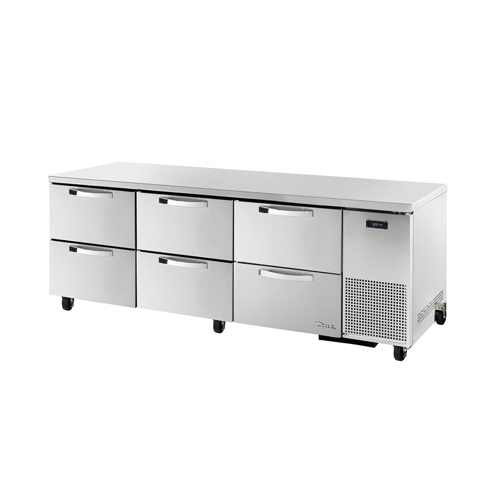 True TUC-93D-6~SPEC1 30.9-cu ft Undercounter Refrigerator w/ (3) Sections & (6) Drawers, 115v