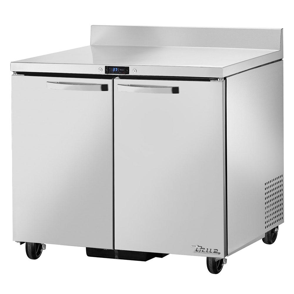 "True TWT-36~SPEC1 36"" Work Top Refrigerator w/ (2) Sections & (2) Doors, 115v"