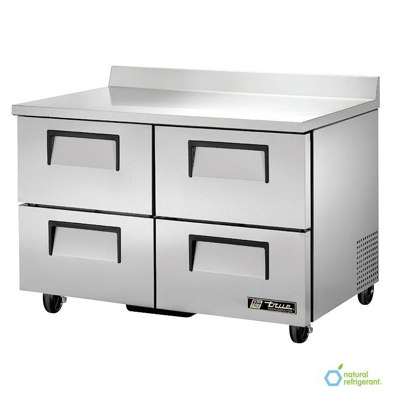"""True TWT-48D-4 48.38"""" Work Top Refrigerator w/ (2) Sections & (2) Drawers, 115v"""