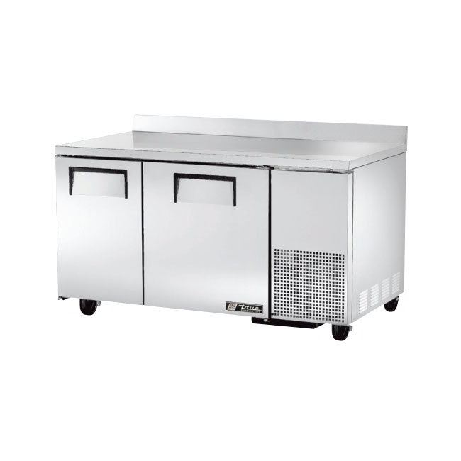 True TWT-60-32F-HD 15.9-cu ft Work Top Freezer w/ (2) Sections & (2) Doors, 115v