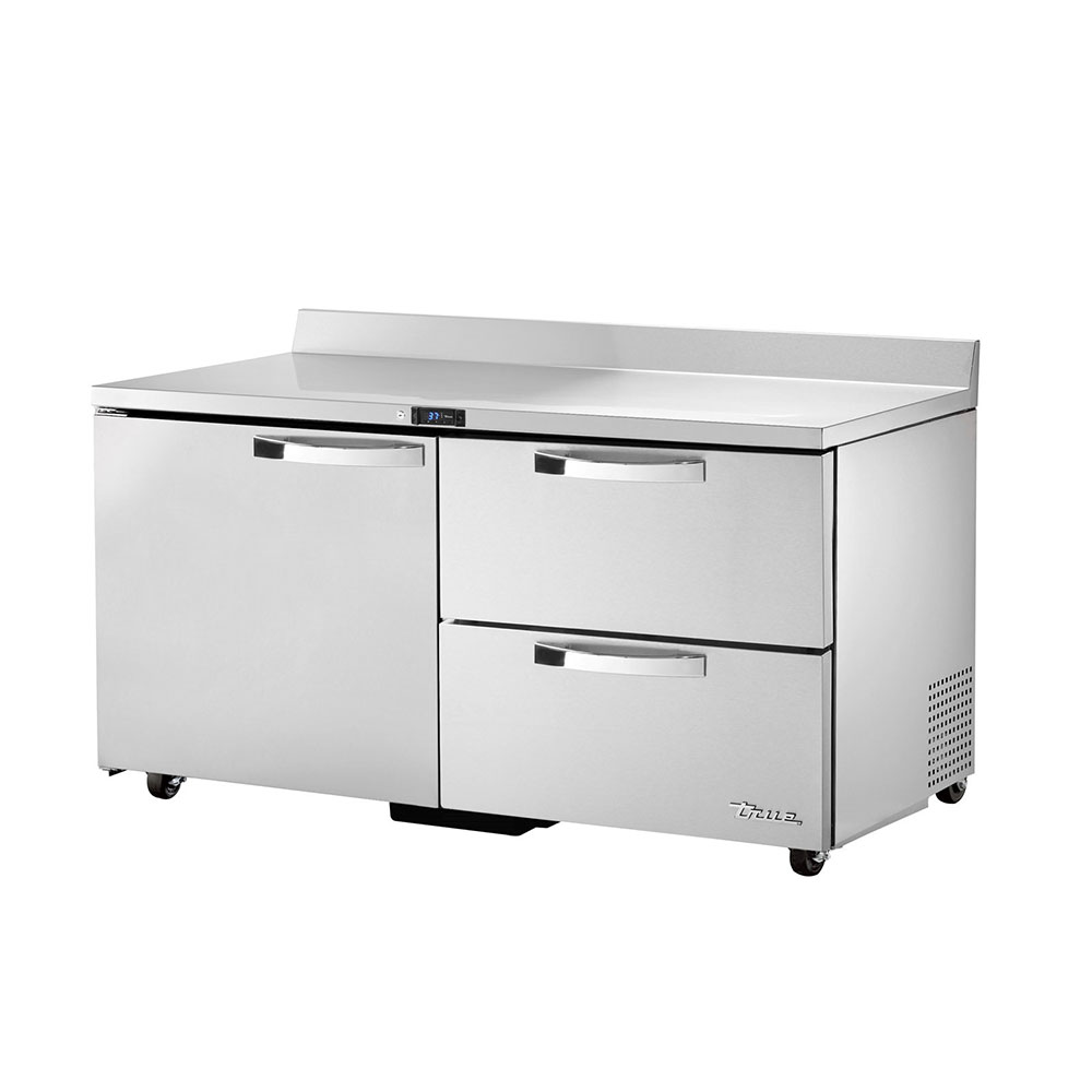 "True TWT-60D-2-ADA-HC~SPEC1 60"" Work Top Refrigerator w/ (2) Sections, (1) Door & (2) Drawers, 115v"