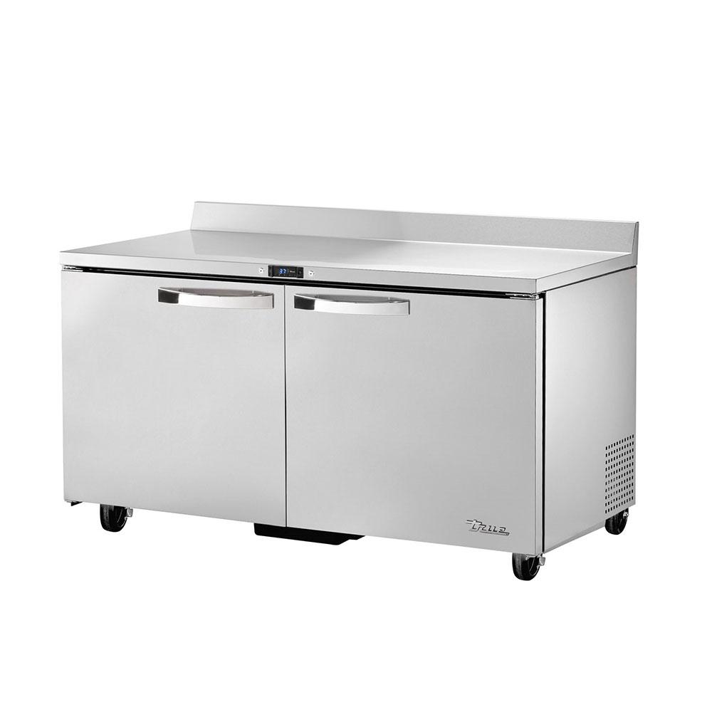 "True TWT-60-HC~SPEC1 60"" Work Top Refrigerator w/ (2) Sections & (2) Doors, 115v"