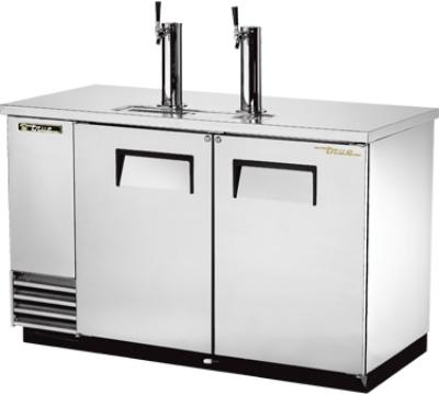 TRUE Refrigeration TDD2SD Scratch N Dent 59 in Draft Beer Cooler SS 2 Faucets 2 Door Holds 2 Kegs Restaurant Supply