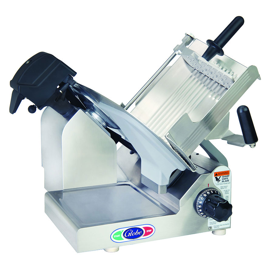 "Globe 3600NF Frozen Meat Slicer w/ 13"" Serrated Knife Blade, Manual, Dishmachine Safe"